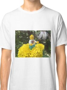 Brickography - By a Flower Classic T-Shirt