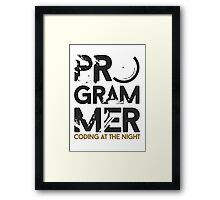programmer - coding at the night Framed Print