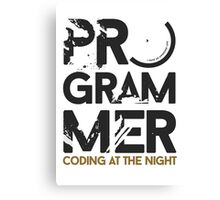 programmer - coding at the night Canvas Print