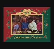 Happy Holidays From Larry and The Blacks One Piece - Short Sleeve