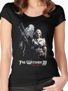 The Witcher 16bit Women's Fitted Scoop T-Shirt