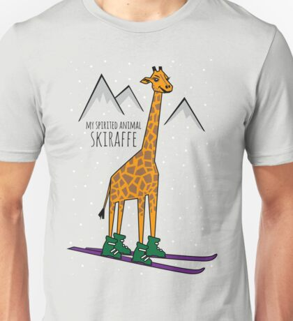 Skiraffe Shirt #giraffewatch  Unisex T-Shirt