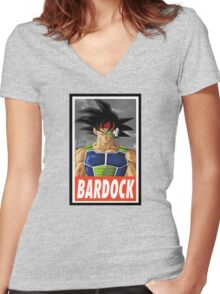 (DRAGON BALL Z) Bardock Women's Fitted V-Neck T-Shirt