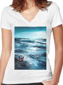 Into unknown Women's Fitted V-Neck T-Shirt