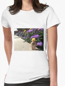 Brickography - By Flowers Womens Fitted T-Shirt
