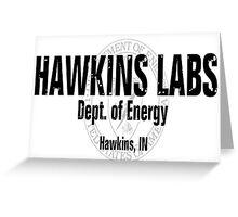 Logo - Hawkins Labs Greeting Card