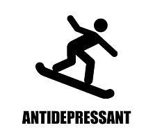 Antidepressant Snowboarding Photographic Print