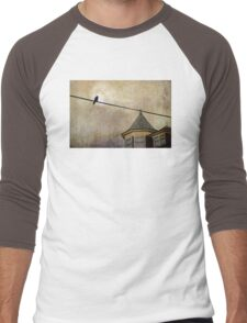 NIGHTFALL AND A CROW Men's Baseball ¾ T-Shirt
