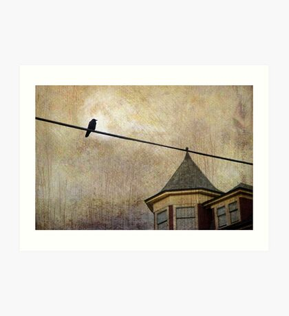 NIGHTFALL AND A CROW Art Print