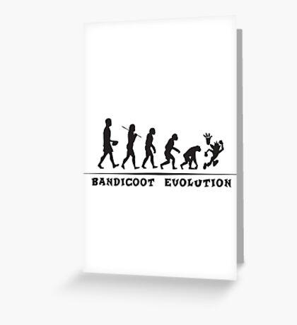 Bandicoot Evolution Greeting Card