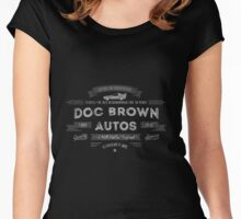 Vintage style Doc Brown Autos Retro Sign Women's Fitted Scoop T-Shirt