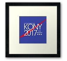 Kony 2017 For President Framed Print