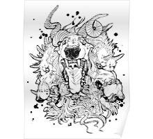Cerberus Dog Monster Poster