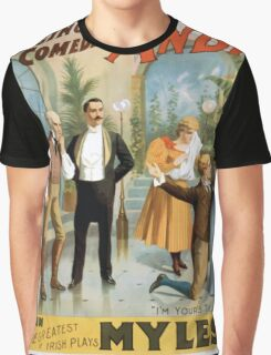 Performing Arts Posters The singing comedian Andrew Mack in the greatest of Irish plays Myles Aroon 1807 Graphic T-Shirt
