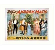 Performing Arts Posters The singing comedian Andrew Mack in the greatest of Irish plays Myles Aroon 1807 Art Print