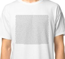 every Twenty One Pilots song/lyric off regional at best Classic T-Shirt