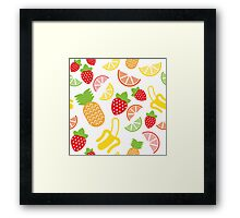 Fruits pattern Framed Print