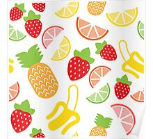 Fruits pattern Poster