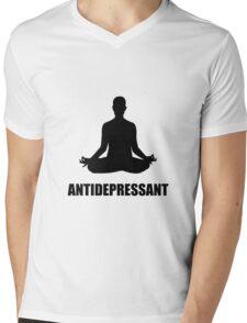 Antidepressant Yoga Mens V-Neck T-Shirt