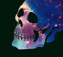 Dope Galaxy Blowout Skull by robotface