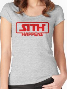 Star Wars Sith Happens Darth Vader Women's Fitted Scoop T-Shirt