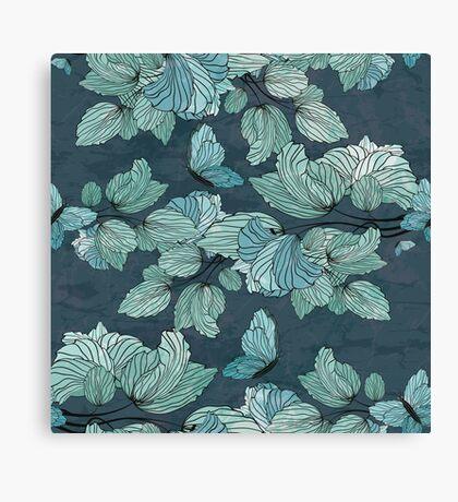 Seamless Floral Ornament Canvas Print