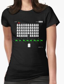 Dr Who Space Invaders Womens Fitted T-Shirt