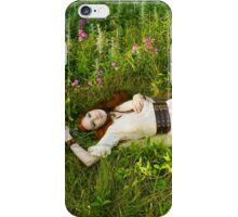 Reclining Fox Maiden iPhone Case/Skin