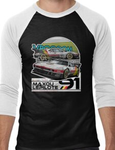 Maxou LePilote - Classic Cars  Men's Baseball ¾ T-Shirt