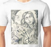 Surreal Maiden with pyramid.  Unisex T-Shirt