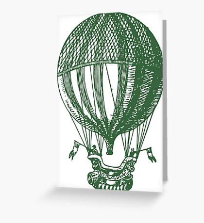 Vintage Card - Hot Air Balloon Greeting Card