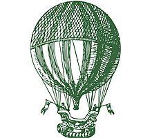 Vintage Card - Hot Air Balloon Photographic Print
