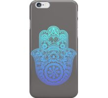 Teal Blue Hamsa iPhone Case/Skin