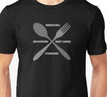 Spooning May Cause Forking (dark) Unisex T-Shirt