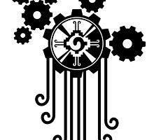 A Clockwork Ometeotl by Gearholder