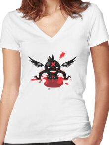 Octoblood Women's Fitted V-Neck T-Shirt