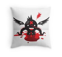 Octoblood Throw Pillow