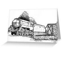 3801 bullet Nose Train Greeting Card