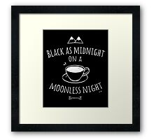 Black as Midnight Framed Print