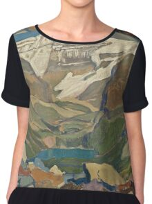 Vintage famous art - James Edward Hervey Macdonald - Lake O Hara Chiffon Top