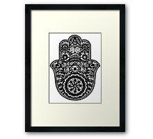 Black And White Hamsa Framed Print