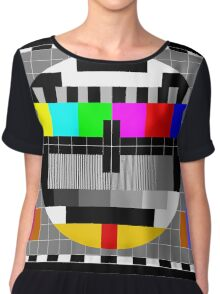 Calibration Test Card, TV monitor film, video geek Chiffon Top