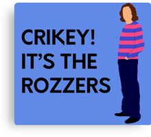 "James May ""Crikey! It's the rozzers"" original design Canvas Print"