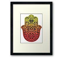 Hamsa Hand Framed Print