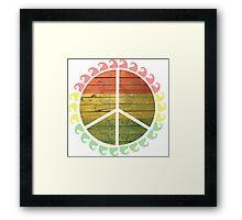 Peace, Sun.  Framed Print