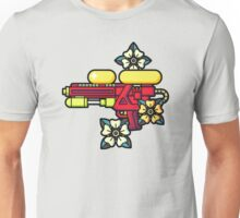 Flowers and watergun Unisex T-Shirt