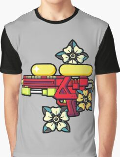 Flowers and watergun Graphic T-Shirt