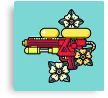 Flowers and watergun Canvas Print