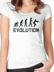 Volleyball Evolution Women's Fitted Scoop T-Shirt