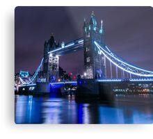 tower bridge by night Metal Print